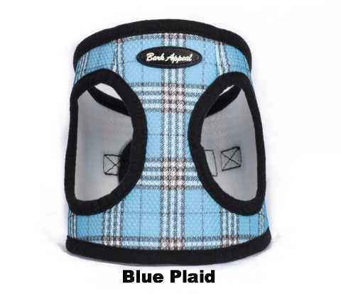 blue plaid Mesh animal Harness