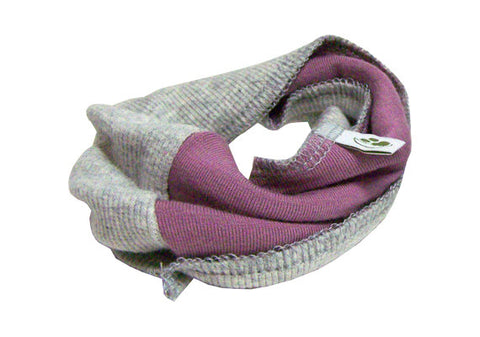 Colorblock Infinity Scarf - Lilac