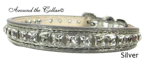 Classic Leather Collar with Swarovski Crystals