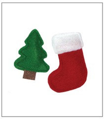 tree and Christmas stocking catnip toys