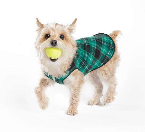 Fleece Lightweight Stretchy Jacket - Wintergreen Plaid
