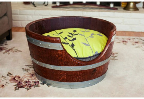 Wine Barrel Pet Bed Geenery
