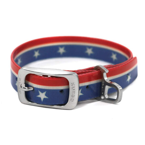 Kurgo Muck Dog Collar - Flag Pattern