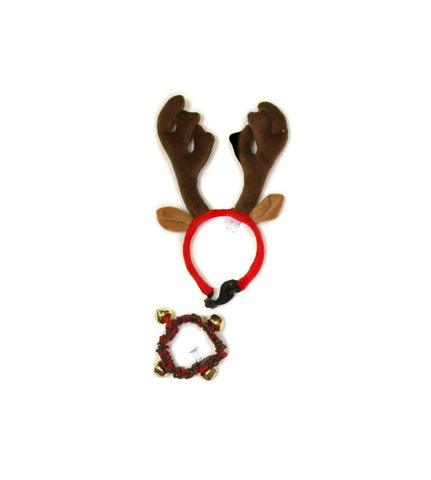 Holiday Bell Collar and Antler Combo Pack