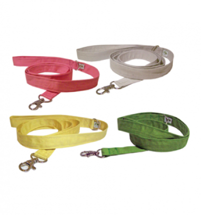 pink, white, yellow and green leashes