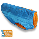 Loft Dog Jacket - Reversible - Blue Orange