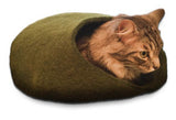 Cat Cave Cocoon - Gray and Pink