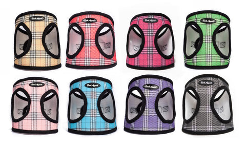 various color plaid Mesh animal Harness