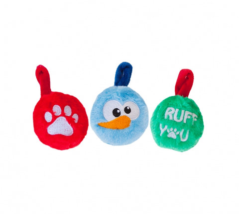Plush Ornaments - 3pk