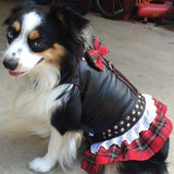 Harness Biker Dress Red Plaid
