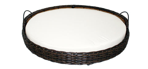 Rattan Round Pet Bed with Handles
