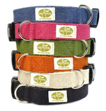 blue, pink, green, orange, white and black small dog collars