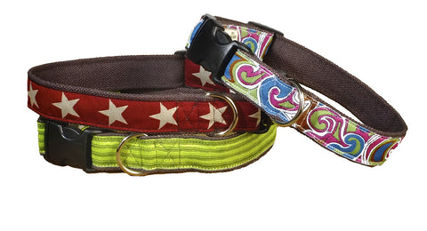 various color dog collars