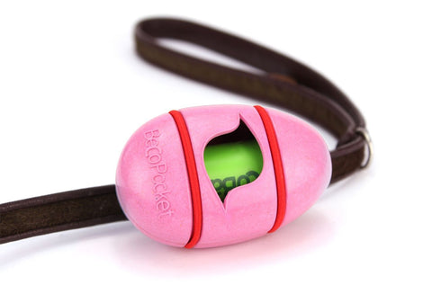 pink egg shaped Poop Bag Dispenser