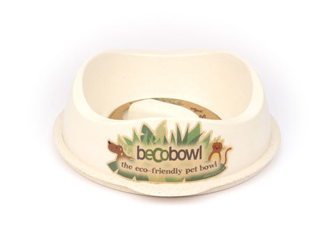 Slow Feed Dog Bowl - Large Natural