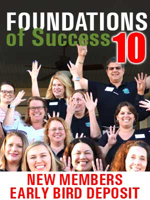 Foundations of Success 10 - Early Bird Deposit