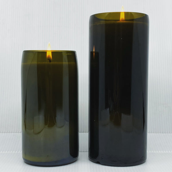 Blank Wine Bottle Candles