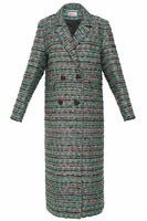 Everyone's Invited Tweed Coat in Green thumbnail