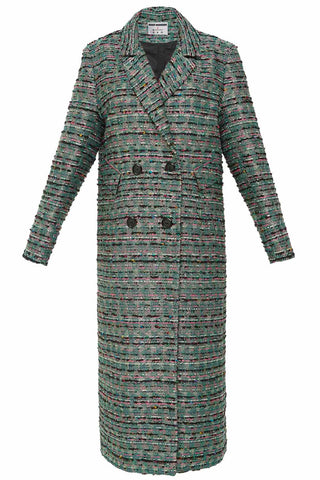 Everyone's Invited Tweed Coat in Green