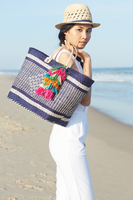 Ibiza Basket Tote in Sunflower thumbnail