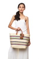 Caracas Basket Tote in Coral thumbnail