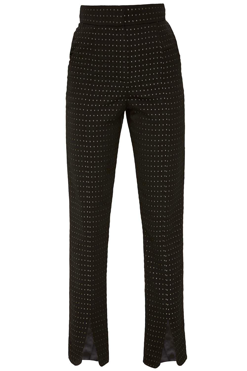 The Split Ends Trousers in Black & Gold