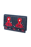 MEA PULPO Clutch in Denim & Red thumbnail