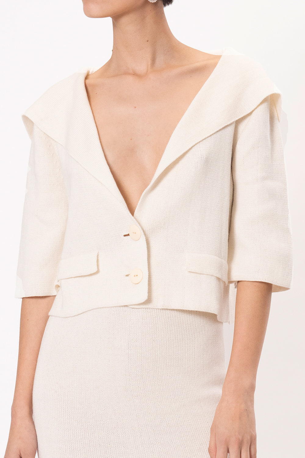 Ann Jacket in Ivory