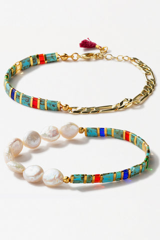 Tilu Duo London Pearl Bracelet Set
