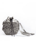 Thembi Bucket Bag in Black & White thumbnail