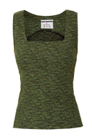 Square Neck Top in Green thumbnail