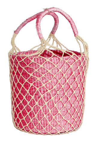 Net Bucket Bag in Light Pink