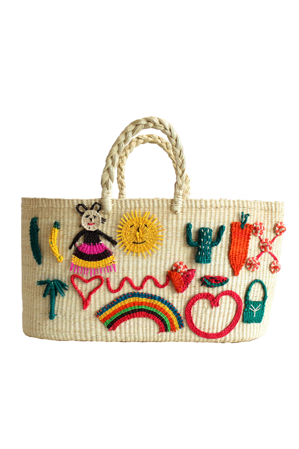 Patches Tote Bag in White