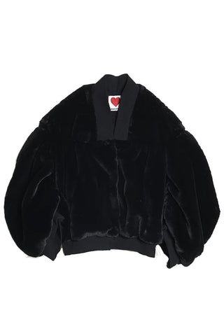 Teddy Bomber Jacket in Black