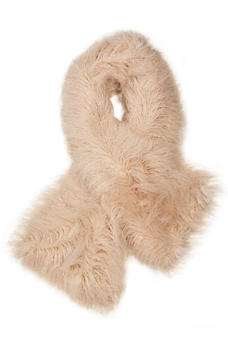 Oversized Mongolian Stole Scarf in Pale Pink