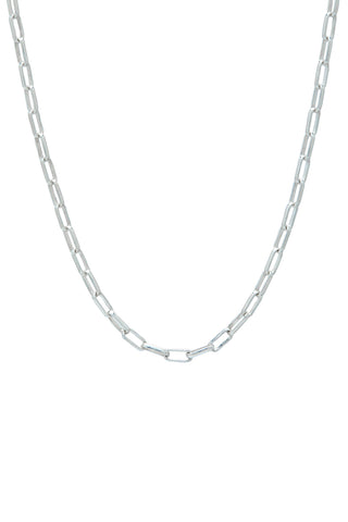 Sterling Silver Paperlink Chain Necklace