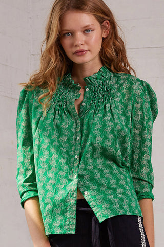 Sunset Blouse in Lush Green