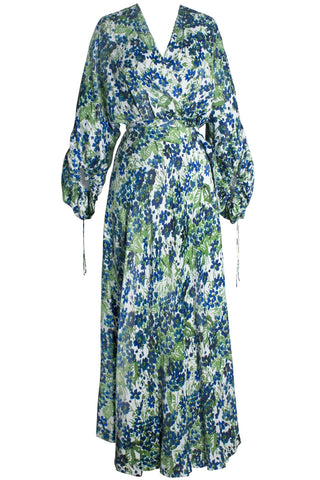 Jacinta Wrap Dress in Bougainvillea
