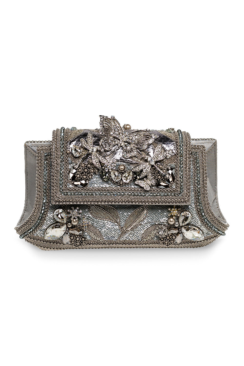 Christianne Clutch in Silver