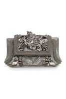 Christianne Clutch in Silver thumbnail