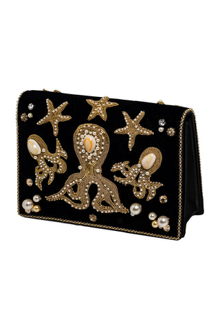 MEA PULPO Clutch 3 in Black & Gold