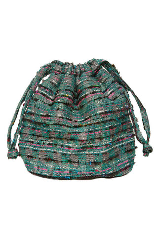 Bucket Twed Bag in Green