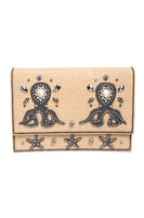 MEA PULPO Clutch in Peach & Silver thumbnail