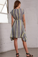 Monterey Dress in Multicolored Stripes thumbnail