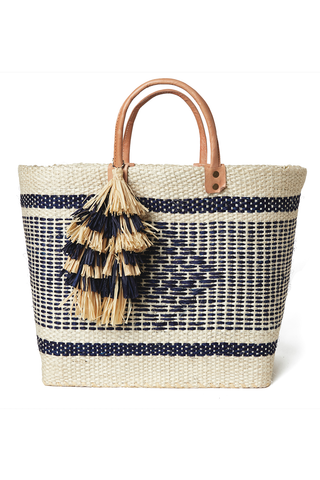 Ibiza Basket Tote in Navy