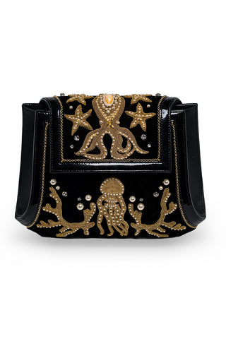 MEA PULPO Clutch 2 in Black & Gold
