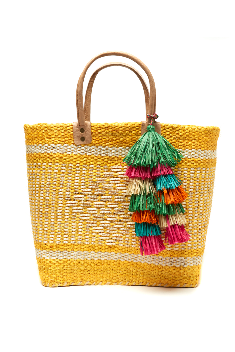 Ibiza Basket Tote in Sunflower