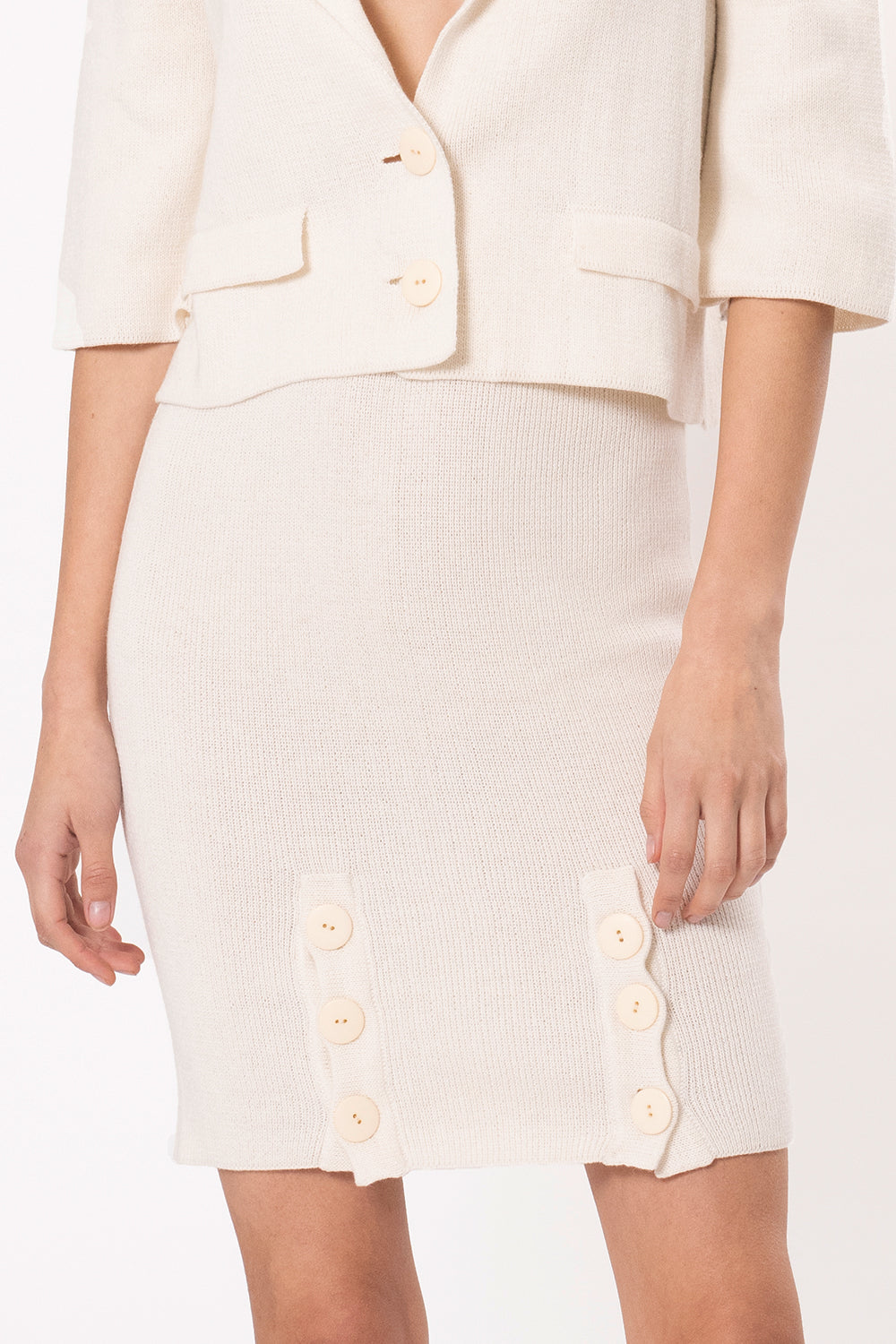 Rosaura Skirt in Ivory