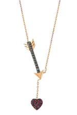 Cupid Necklace in 14K Pink Gold thumbnail