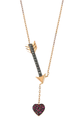 Cupid Necklace in 14K Pink Gold